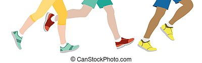 jogging, algunos, gente