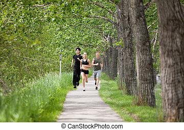jogging, amis