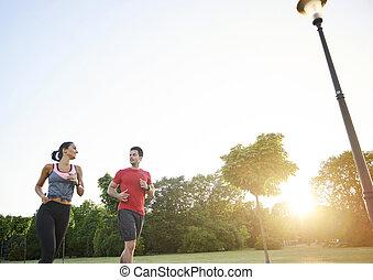 jogging, associé, easier