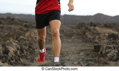 jogging, courant, formation, mâle, homme, coureur, style de ...
