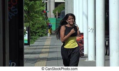 jogging, coureur, joggeur, courant