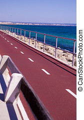 Jogging, cycling track in Mallorca