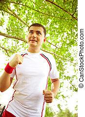 jogging, draußen