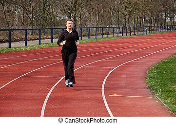jogging, estadio