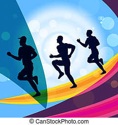 Jogging Exercise Represents Get Fit And Jogger