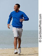 jogging, guapo, joven