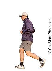 jogging, hombre
