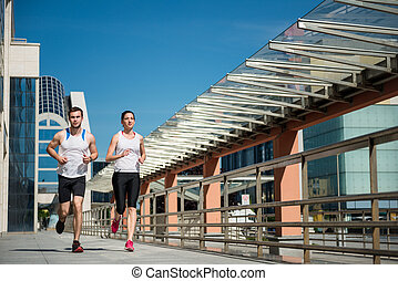 jogging, insieme