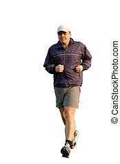 jogging, jeune homme