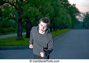 jogging, joven