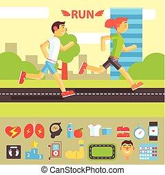 jogging, komplet, wyścigi
