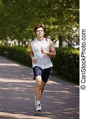jogging, mann