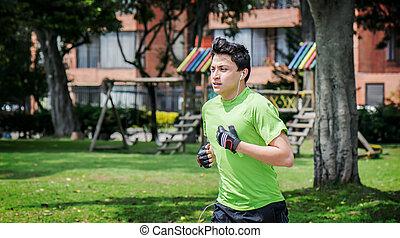 Jogging near home