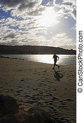 Jogging on the Beach