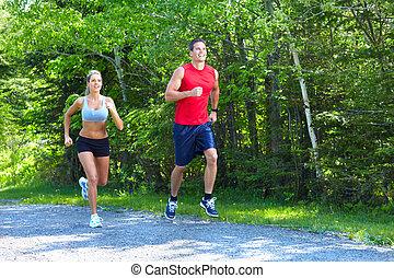 jogging, para.