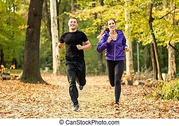 jogging, parco
