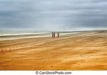 jogging, plage