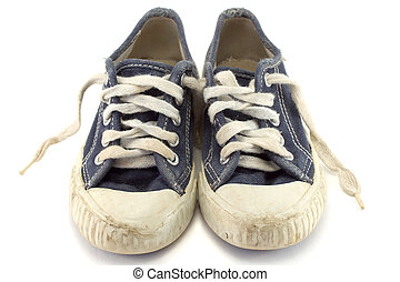 Jogging shoes. - An old worn pair of children's jogging...