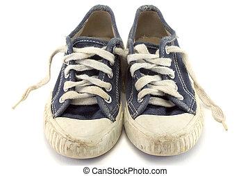 jogging, shoes.