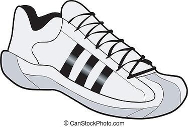 jogging, shoes