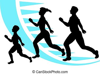 jogging. sport family