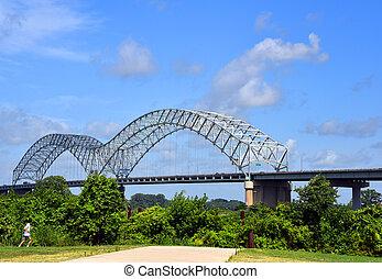 Jogging the River Bluff Walkway Memphis