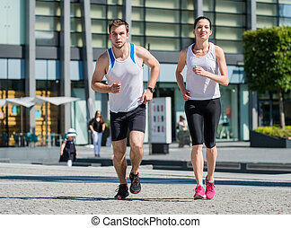 Jogging together