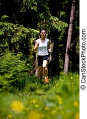jogging woman