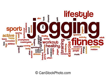 Jogging word cloud