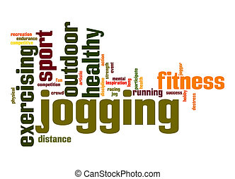 Jogging word cloud