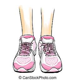 jogging/running, turnschuhe, schuhe