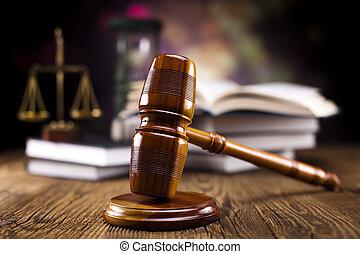 jogi, árverezői kalapács, és, törvény beír