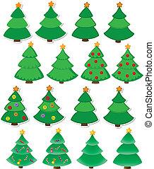 jogo, árvore, natal
