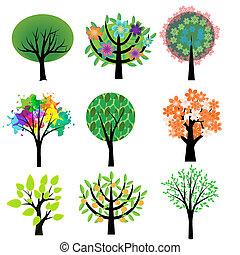 jogo, árvores