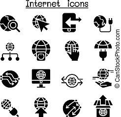 jogo, ícone internet