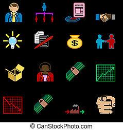 jogo, ícone, negócio