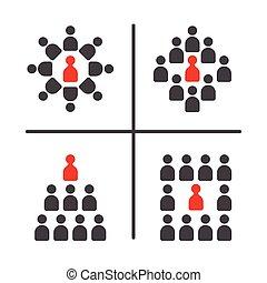 jogo, ícone, reunião, conferência