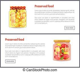jogo, ícones, legumes, fruta, vetorial, preservado
