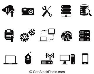 jogo, ícones tecnologia