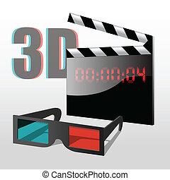 jogo, 3d, cinema