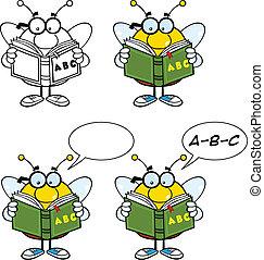 jogo, 5, caráteres, cobrança, abelha