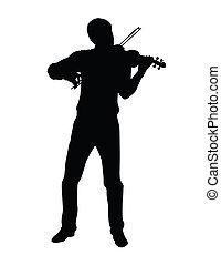 jogo, a, violino