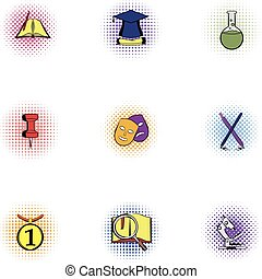 jogo, academia, estilo,  pop-art, ícones