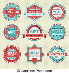 jogo, adesivos, para, cartões natal