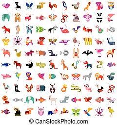 jogo, animal, ícone