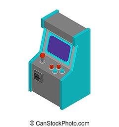 jogo, antigas, arcada, máquina, jogo, vídeo, retro, gaming.
