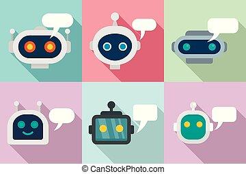 jogo, apartamento, chatbot, estilo, ícones