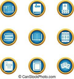 jogo, apartamento, estilo, exame, ícones