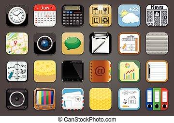 jogo, apps, ícones
