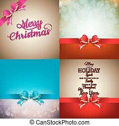 jogo,  -, arco, decoração,  bokeh, Natal, Fita